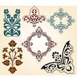 Floral motifs vector image