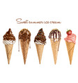 hand drawn delicious ice cream vector image