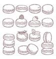 hand drawn of paris cuisine vector image