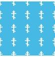 Orthodox cross straight pattern vector image