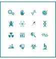 Modern icons set of biochemistry research biology vector image