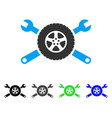 tire service wrenches flat icon vector image