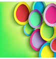 Abstract background with colorful Easter egg vector image vector image