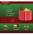 Restaurant template for web site vector image vector image