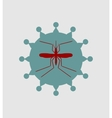 Mosquito and virus icons vector image