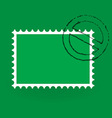 saint patrick postage stamp vector image vector image