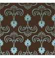 seamless retro floral pattern vector image vector image