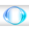 abstract round on white blue vector image vector image