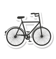 bicycle vehicle drawn isolated icon vector image