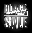 black friday holiday 3d lettering banner vector image