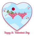card by St Valentines Day vector image