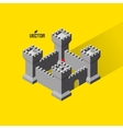 Castle Medieval fort with defense towers vector image