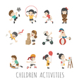 Children activities eps10 format vector image