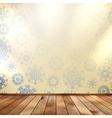 Christmas room and blue wall EPS 10 vector image