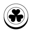 coin with Saint patricks clover icon vector image