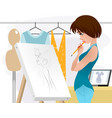 designer clothing in the workplace vector image