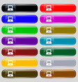 Laptop icon sign Big set of 16 colorful modern vector image