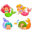 little mermaids vector image