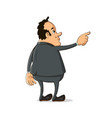 man pointing finger away vector image