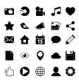Media Social Icons vector image