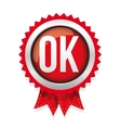 OK badge red vector image