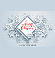 white holiday snow background-01 vector image