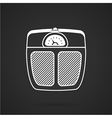 White line icon for floor scales vector image