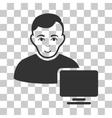 Computer Administrator Icon vector image