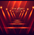 spot lights stage enterance background vector image