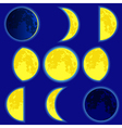 Lunar phase vector image