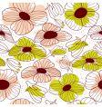 springtime floral seamless pattern vector image
