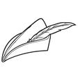 robin hood hat vector image