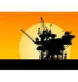 oil platform silhouette vector image