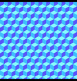 Blue Geometric Volume Seamless Pattern Background vector image