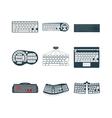 Keyboard icons set vector image
