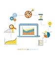 Analytics process vector image