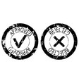 approved and rejected rubber stamp black color vector image