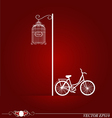 bicycle in park background vector image