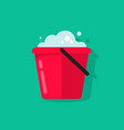 bucket of water icon isolated flat cartoon vector image