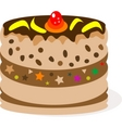 celebratory chocolate cake with bananas vector image