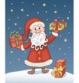 Christmas card with Santa Claus vector image