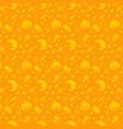 halloween pattern design for background vector image