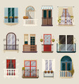 modern classic vintage balcony elements collection vector image
