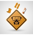 Safety at work icon design vector image