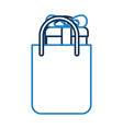 shopping bag with gift vector image