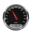 speedometer round black gage with metal frame vector image