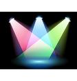 Three colorful spotlights vector image