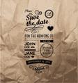 Wedding stamps paper vector image
