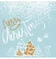 Silhouette Sleigh of Santa Claus and Reindeers vector image