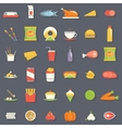 Food Icons and Symbols Set Retro Flat vector image vector image